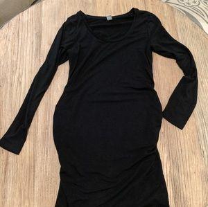 Old Navy black long sleeve maternity dress